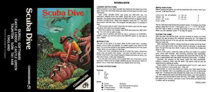 Scuba Dive (Durell Software)